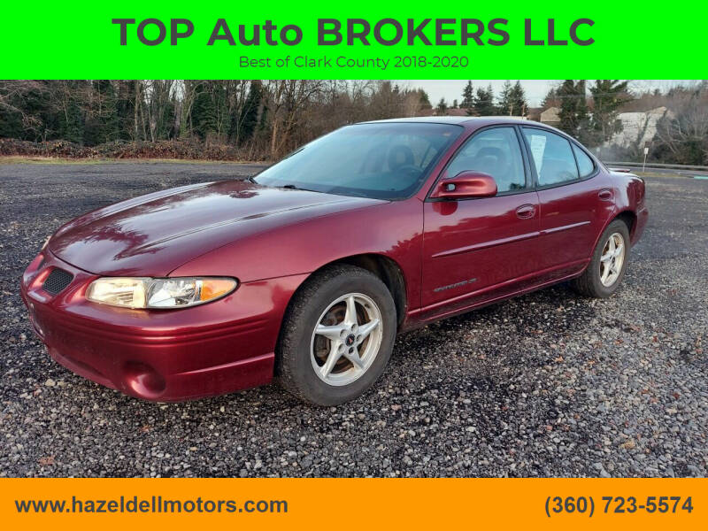 2002 Pontiac Grand Prix for sale at TOP Auto BROKERS LLC in Vancouver WA