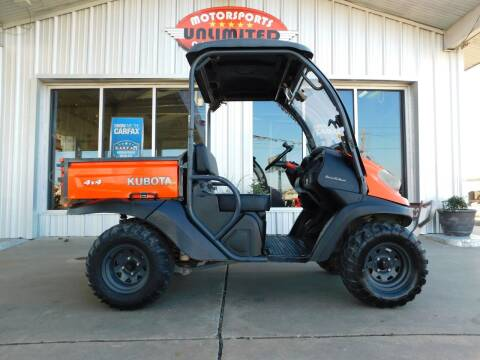 2011 Kubota RTV 500 for sale at Motorsports Unlimited in McAlester OK