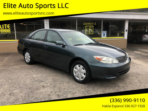 2002 Toyota Camry for sale at Elite Auto Sports LLC in Wilkesboro NC