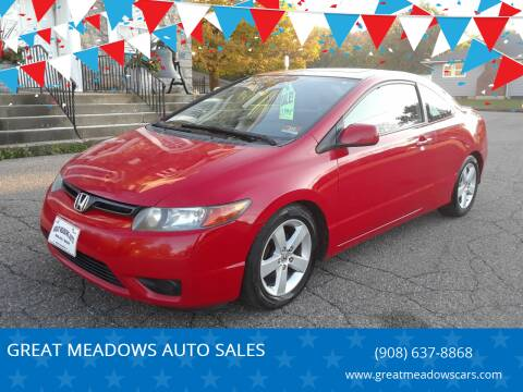 2007 Honda Civic for sale at GREAT MEADOWS AUTO SALES in Great Meadows NJ