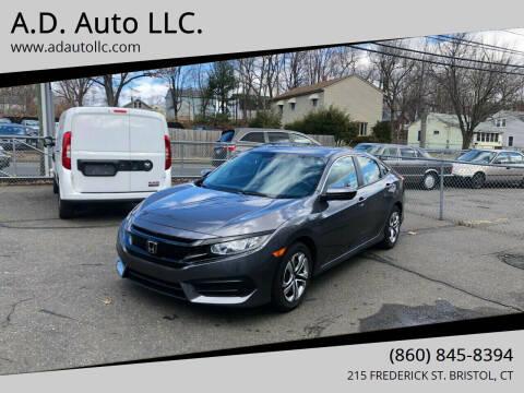 2016 Honda Civic for sale at ADAuto LLC in Bristol CT