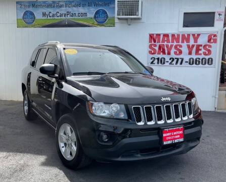 2017 Jeep Compass for sale at Manny G Motors in San Antonio TX
