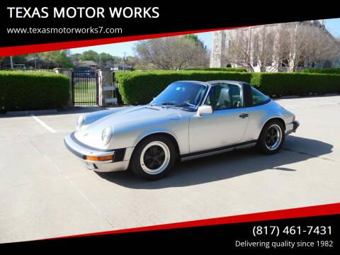 1985 Porsche 911 for sale at TEXAS MOTOR WORKS in Arlington TX