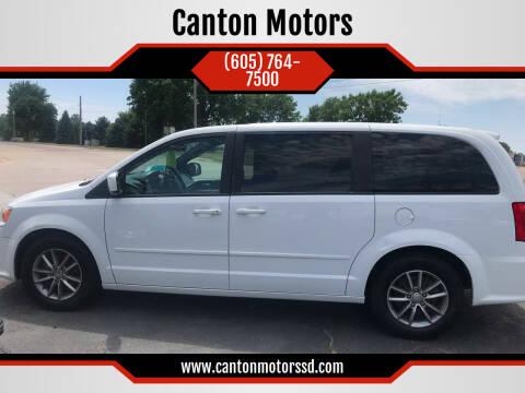2016 Dodge Grand Caravan for sale at Canton Motors in Canton SD