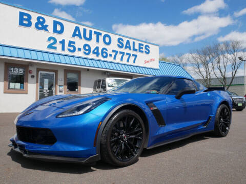 2015 Chevrolet Corvette for sale at B & D Auto Sales Inc. in Fairless Hills PA