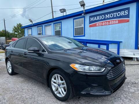 2016 Ford Fusion for sale at Mario Motors in South Houston TX