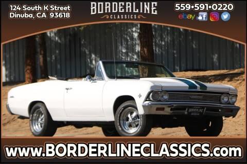 1966 Chevrolet Malibu for sale at Borderline Classics in Dinuba CA
