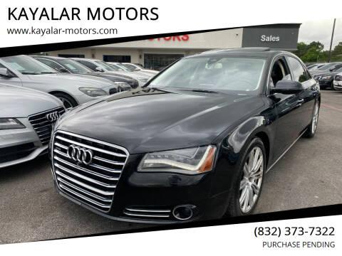 2013 Audi A8 L for sale at KAYALAR MOTORS in Houston TX