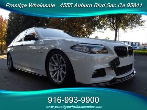 2014 BMW 5 Series for sale at Prestige Wholesale in Sacramento CA