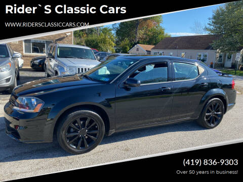 2014 Dodge Avenger for sale at Rider`s Classic Cars in Millbury OH