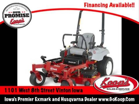 2021 Exmark Radius E-Series for sale at Koop's Sales and Service in Vinton IA