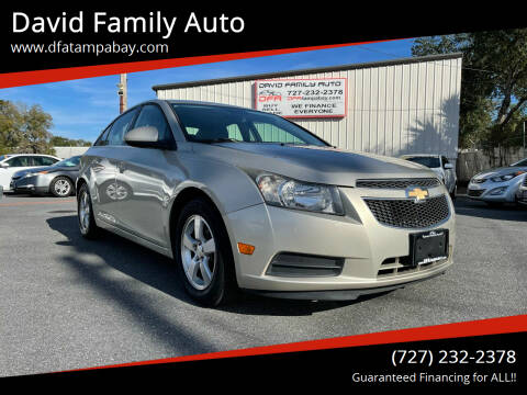 2014 Chevrolet Cruze for sale at David Family Auto in New Port Richey FL