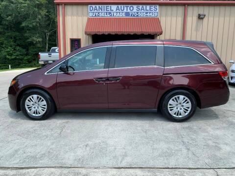 2014 Honda Odyssey for sale at Daniel Used Auto Sales in Dallas GA