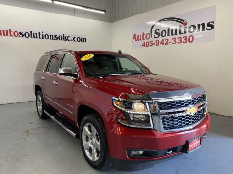 2015 Chevrolet Tahoe for sale at Auto Solutions in Warr Acres OK