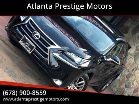 2016 Lexus NX 200t for sale at Atlanta Prestige Motors in Decatur GA