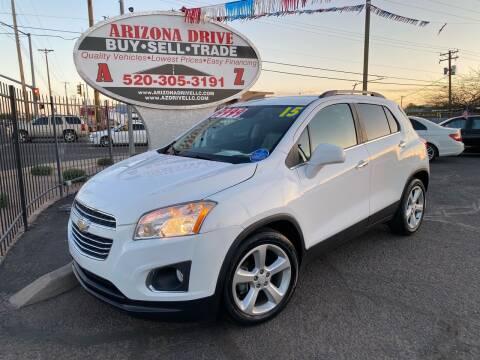 2015 Chevrolet Trax for sale at Arizona Drive LLC in Tucson AZ