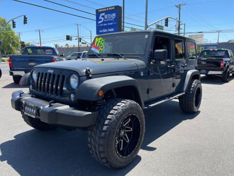 2016 Jeep Wrangler Unlimited for sale at 5 Star Auto Sales in Modesto CA