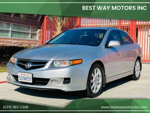 2007 Acura TSX for sale at BEST WAY MOTORS INC in San Diego CA