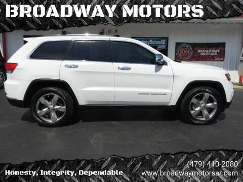2014 Jeep Grand Cherokee for sale at BROADWAY MOTORS in Van Buren AR