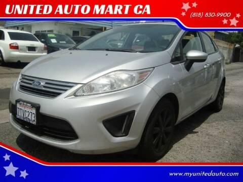 2011 Ford Fiesta for sale at UNITED AUTO MART CA in Arleta CA