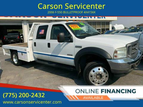 2006 Ford F-550 Super Duty for sale at Carson Servicenter in Carson City NV