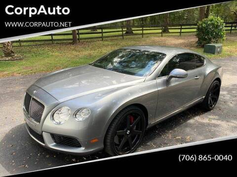 2013 Bentley Continental for sale at CorpAuto in Cleveland GA