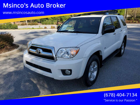 2006 Toyota 4Runner for sale at Msinco's Auto Broker in Snellville GA