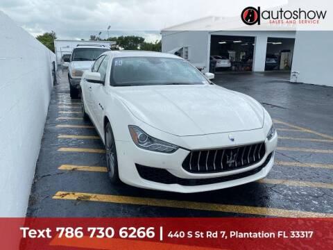 2018 Maserati Ghibli for sale at AUTOSHOW SALES & SERVICE in Plantation FL