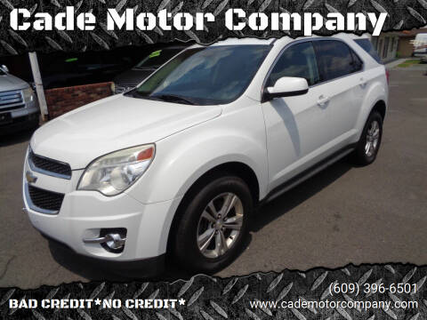 2013 Chevrolet Equinox for sale at Cade Motor Company in Lawrence Township NJ