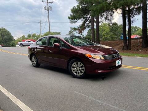 2012 Honda Civic for sale at THE AUTO FINDERS in Durham NC