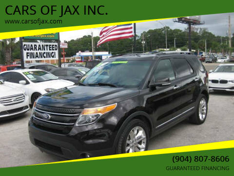 2014 Ford Explorer for sale at CARS OF JAX INC. in Jacksonville FL