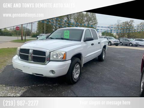2006 Dodge Dakota for sale at GENE AND TONYS DEMOTTE AUTO SALES in Demotte IN