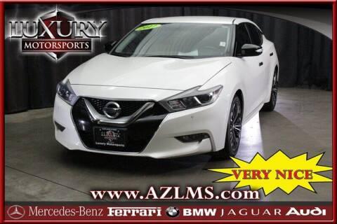 2017 Nissan Maxima for sale at Luxury Motorsports in Phoenix AZ
