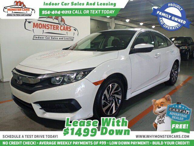 2018 Honda Civic for sale at Monster Cars LLC - Lease Vehicles in Pompano Beach FL