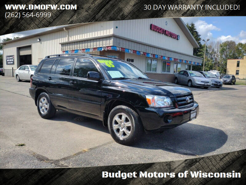2005 Toyota Highlander for sale at Budget Motors of Wisconsin in Racine WI