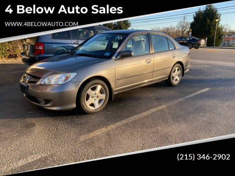 2004 Honda Civic for sale at 4 Below Auto Sales in Willow Grove PA