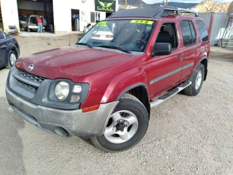 2002 Nissan Xterra for sale at Canyon View Auto Sales in Cedar City UT