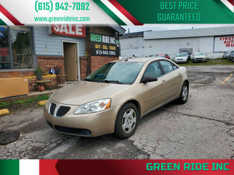 2008 Pontiac G6 for sale at Green Ride Inc in Nashville TN