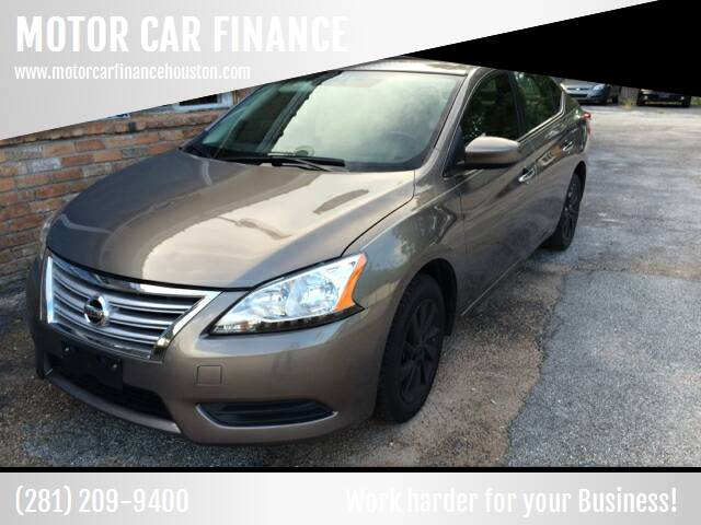 2015 Nissan Sentra for sale at MOTOR CAR FINANCE in Houston TX