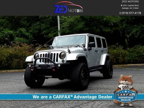 2012 Jeep Wrangler Unlimited for sale at Zed Motors in Raleigh NC