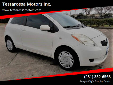2008 Toyota Yaris for sale at Testarossa Motors Inc. in League City TX