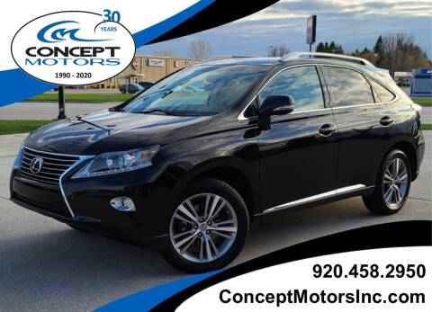 2015 Lexus RX 350 for sale at CONCEPT MOTORS INC in Sheboygan WI