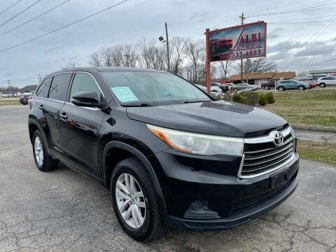 2015 Toyota Highlander for sale at Albi Auto Sales LLC in Louisville KY