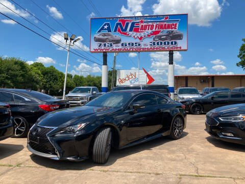 2017 Lexus RC 350 for sale at ANF AUTO FINANCE in Houston TX