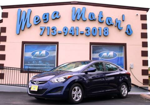 2014 Hyundai Elantra for sale at MEGA MOTORS in South Houston TX