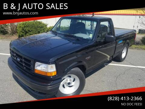 1994 Ford F-150 SVT Lightning for sale at B & J AUTO SALES in Morganton NC