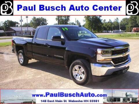 2019 Chevrolet Silverado 1500 LD for sale at Paul Busch Auto Center Inc in Wabasha MN