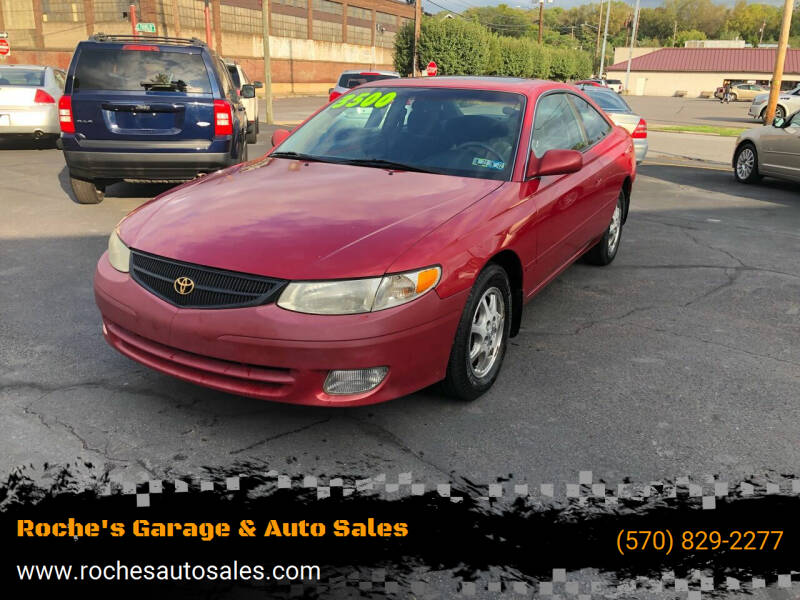 1999 Toyota Camry Solara for sale at Roche's Garage & Auto Sales in Wilkes-Barre PA