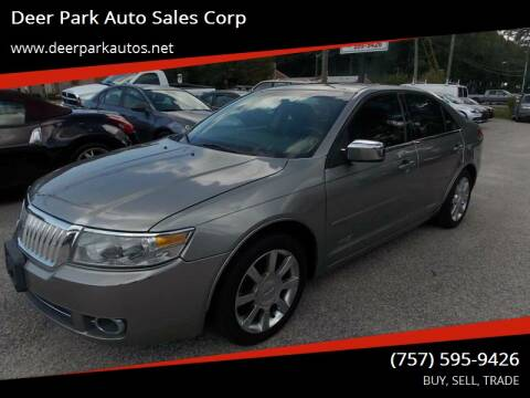 2008 Lincoln MKZ for sale at Deer Park Auto Sales Corp in Newport News VA