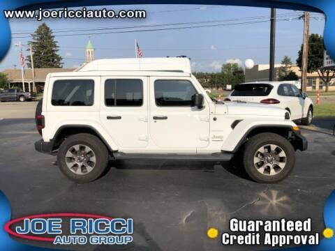 2019 Jeep Wrangler Unlimited for sale at JOE RICCI AUTOMOTIVE in Clinton Township MI